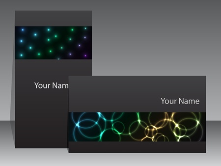 visit card: Abstract business card design with plasma effects Illustration
