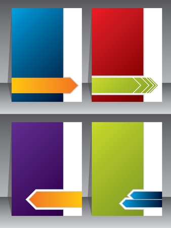 visiting: Business brochure templates with various arrow shapes Illustration