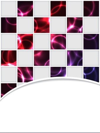 smooth background: Checkered brochure design with red plasma effect