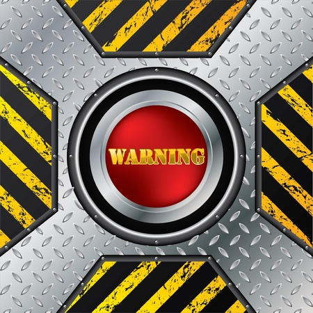 Abstract industrial design with red warning button Stock Vector - 13239209