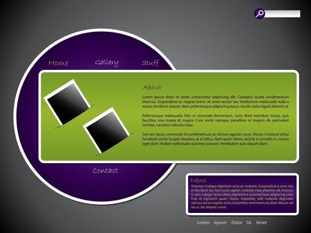Advertisement website template design with photo set Stock Vector - 13557112