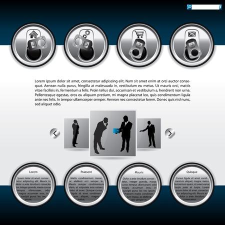Website template design with beer can top elements Stock Vector - 13557128