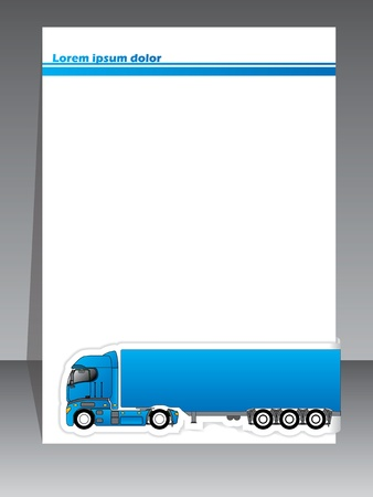 Cool brochure design for transportation companies on grey background Vector