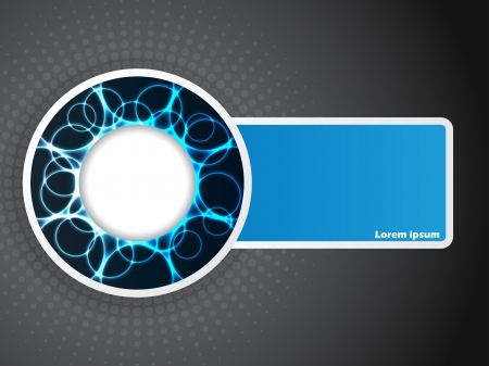 pulsation: Abstract company brochure design with blue elements Illustration