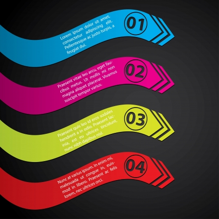 gradation: Stationary label set with gradation showing direction
