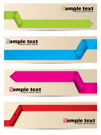 New banner set with different ribbon shapes Stock Vector - 14399601