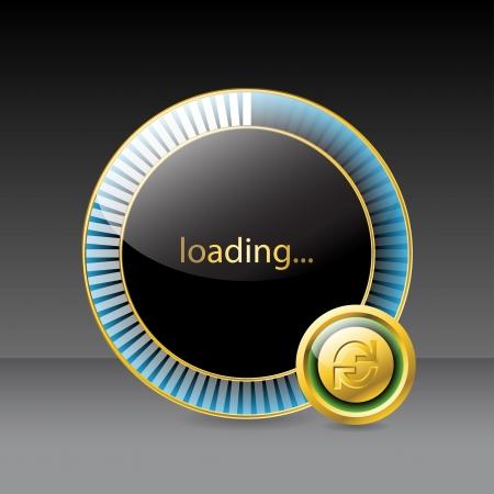 progressbar: Website loading screen with round progress indicator  Illustration