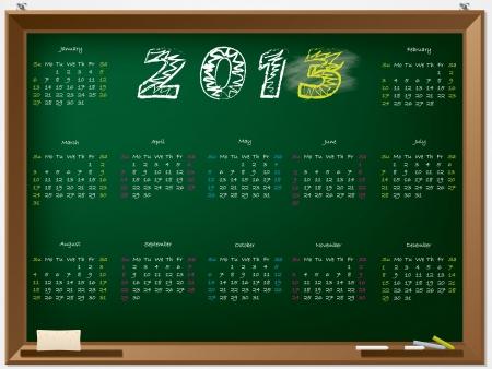 2013 calendar hand drawn on chalkboard Stock Vector - 14740984