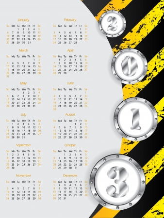 New industrial calendar design for year 2013 Vector