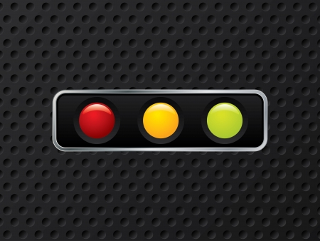 Horizontal traffic light design on dotted background Stock Vector - 14740969