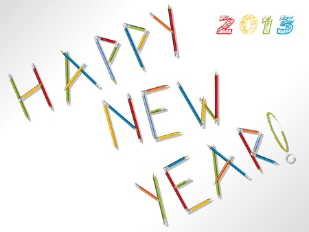2013 happy new year background design with pencils Vector