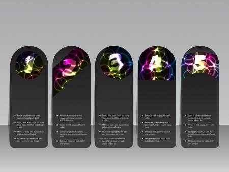 Plasma effect  label set with shiny color  Vector