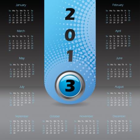 2013 label calendar design with dark background Stock Vector - 15193234