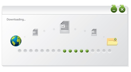 File download progress indicator design on white background Stock Vector - 15098977
