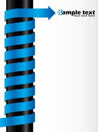 flecha azul: Dise�o de fondo abstracto con cinta flecha azul Vectores