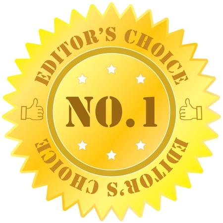 no 1: Gold no 1 badge Illustration