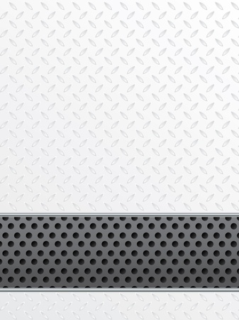 Simple indistrial background with white plate and dotted stripe Stock Vector - 15516371