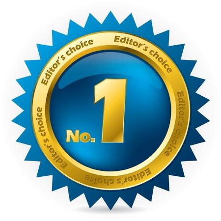 numero uno: Nuestra selección número uno adjudicación insignia en blanco