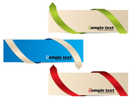 Color banner set with different bent ribbon arrows Stock Vector - 15729912