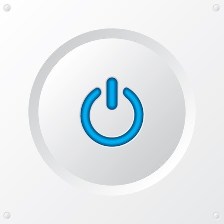on off button: Cool power button in white with blue LED