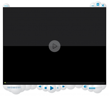 Cool media player with white bubble design Vector