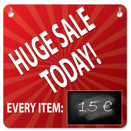 modification: Sale board with wipeable blackboard for price modification