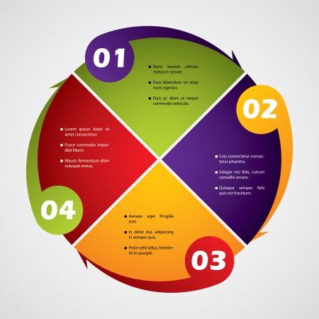 diagrama: Negocios Rotateing diagrama dise�o con n�meros y texto
