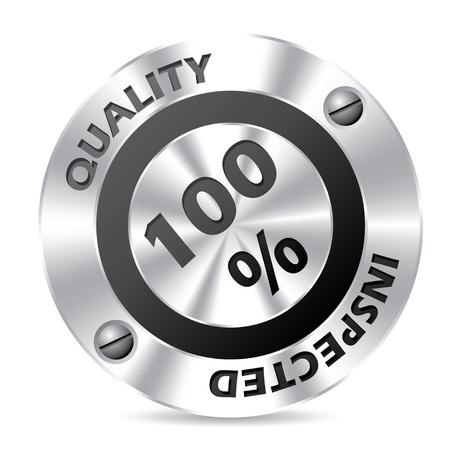 inspected: Technology award badge design on white background