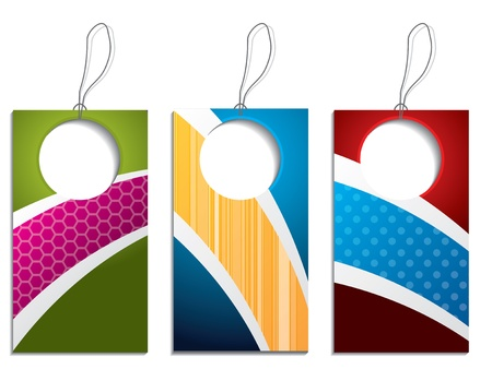 Cool colorful label set with big holes Stock Vector - 16551991