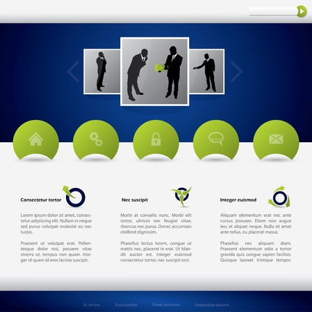 Business website template design with simplistic concept Stock Vector - 16752451