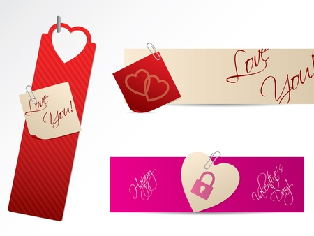 Vaus new love banners for Valentine day Stock Vector - 17345292