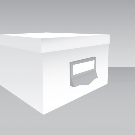 packer: 3d illustration of a closed box in grey tones