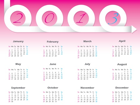 New swirling 2013 ribbon arrow calendar design Stock Vector - 17698837