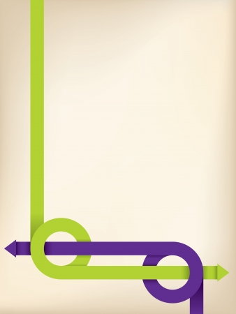 Abstract broshure design with green and purple arrows  Vector