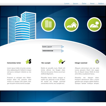 the land of menu: Home selling website design with advertising elemesnt
