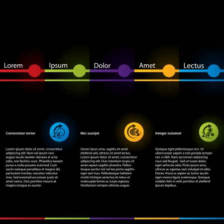simplistic: Simplistic design web template with colored elements