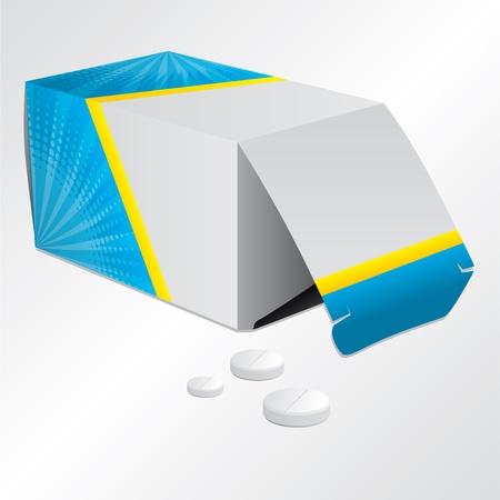 Cool design pill box and 3 pills Stock Vector - 18019666