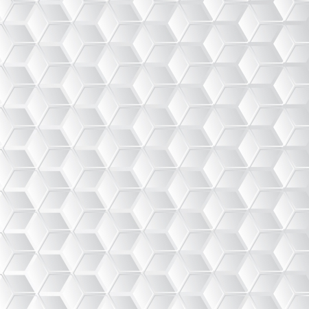 Abstract white background with hexagons shaping 3d cube Illustration