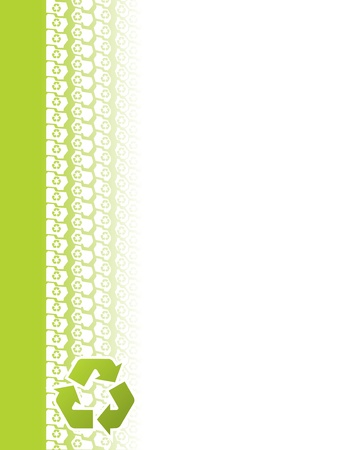 Ecological tire tread brochure design with recycle sign Vector