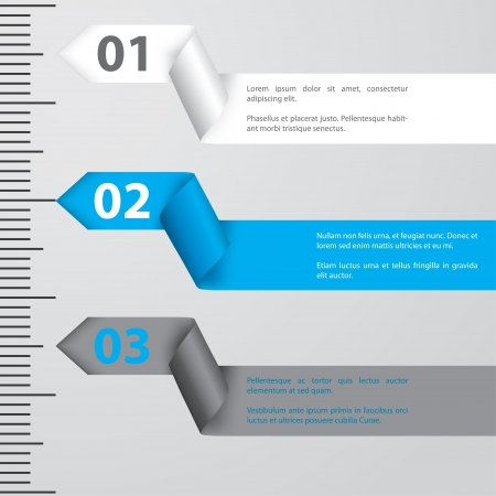 Ribbon infographic design with gradation and calibration