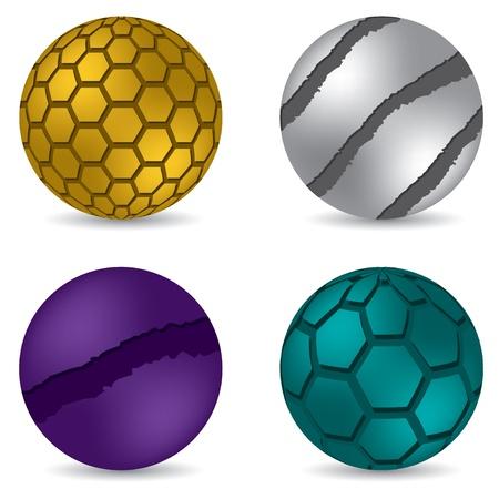 3d color matte button set of four Stock Vector - 18623780
