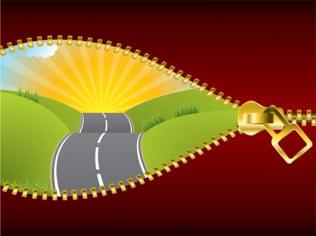 possibilities: Uncovering the road of possibilities by unzipping the world Illustration