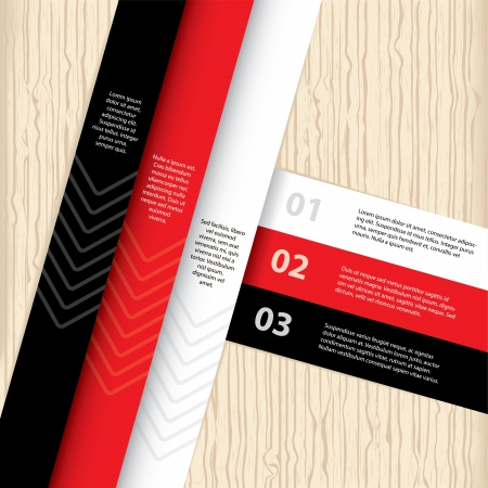 Colorful infographic template design with wooden background Vector