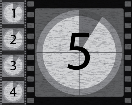 Black and white countdown with noisy background design Vector