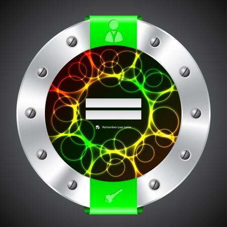 plasma screen: Technology login background design with plasma screen Illustration