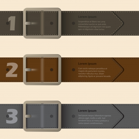 belt buckle: Belt buckle infographic design with light background Illustration