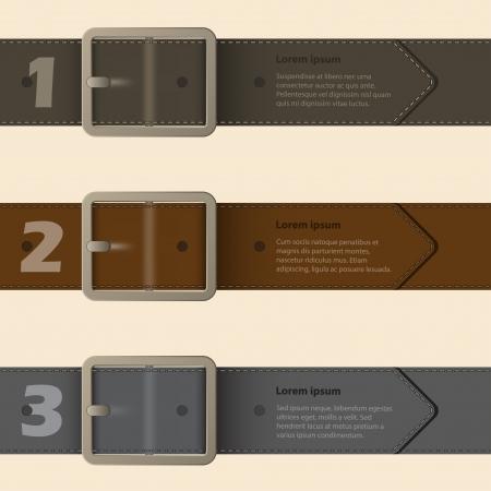 waistband: Belt buckle infographic design with light background Illustration