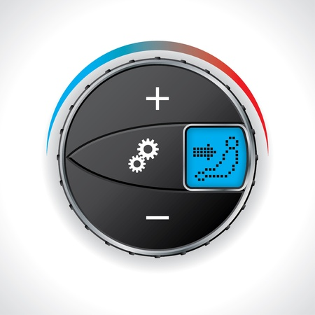 Car air conditioning gauge with led display Vector