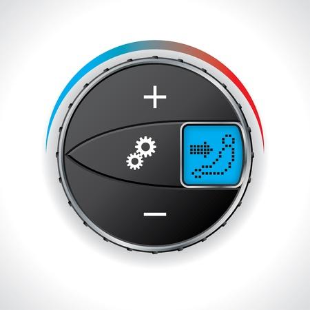 gagant: jauge de climatisation de voiture avec affichage � LED Illustration