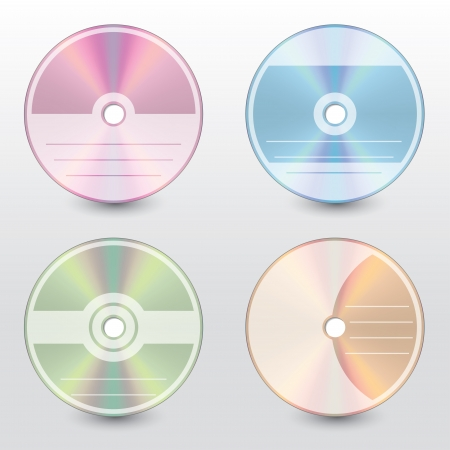 cd label: Editable and customizable disc cover design set